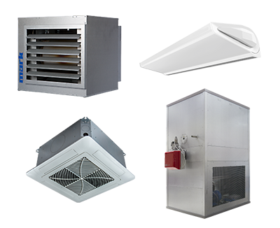 Air heating climate control products